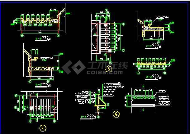 某水岸别墅建筑施工CAD设计平立面图纸-图1