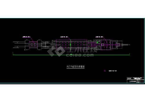 常州淹城古街夜景亮化工程cad设计图-图1