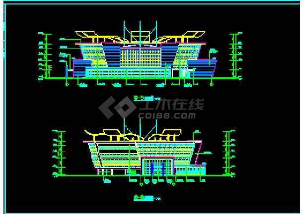 某海口岸改造方案cad平面装修设计施工图纸-图1