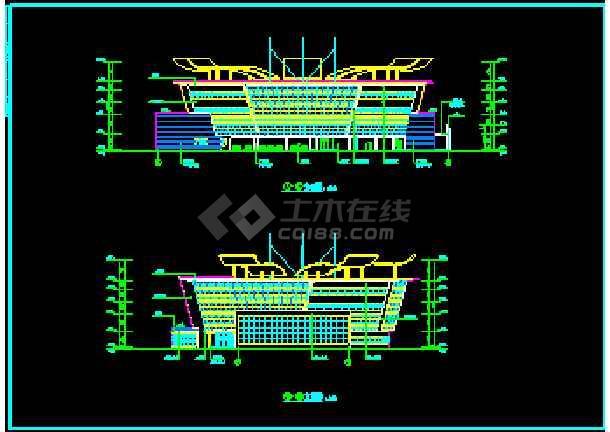 某海口岸改造方案cad平面装修设计施工图纸-图2