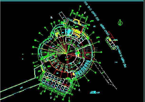 某海口岸改造方案cad平面装修设计施工图纸-图3
