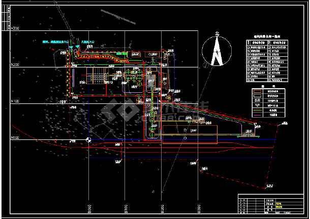 厂区照明设计全套cad平立面布置图纸-图1