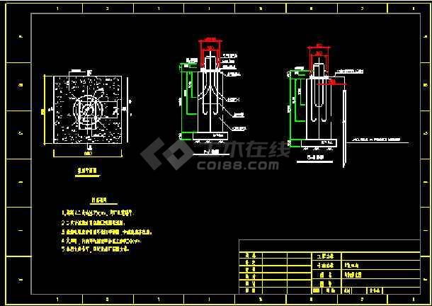 厂区照明设计全套cad平立面布置图纸-图3