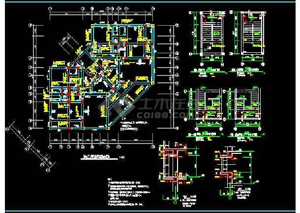 别墅建筑结构cad平面设计施工图-图2