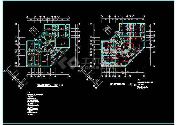 别墅建筑结构cad平面设计施工图-图3