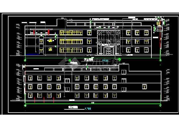 宾馆设计全套CAD平立剖面施工图-图2