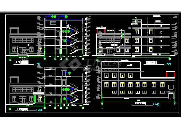 宾馆设计全套CAD平立剖面施工图-图3