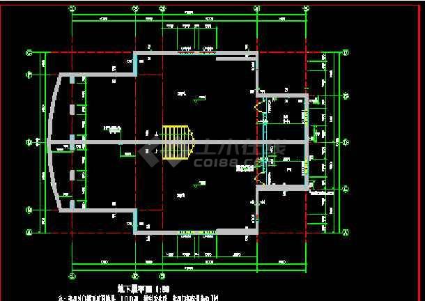 某小区联体别墅建筑CAD设计施工图纸-图2