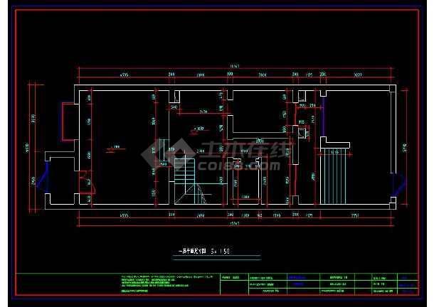 某小区三层别墅室内装修设计cad方案图-图2