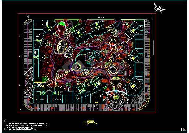 园林景观照明施工cad平面设计图-图1