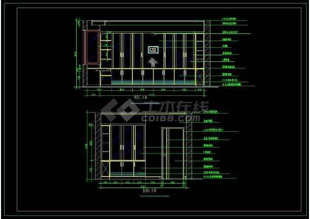某经典大两居住宅楼室内装修设计cad施工图-图3