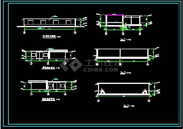 某工厂循环水池+泵房图纸(建筑+结构)-图1