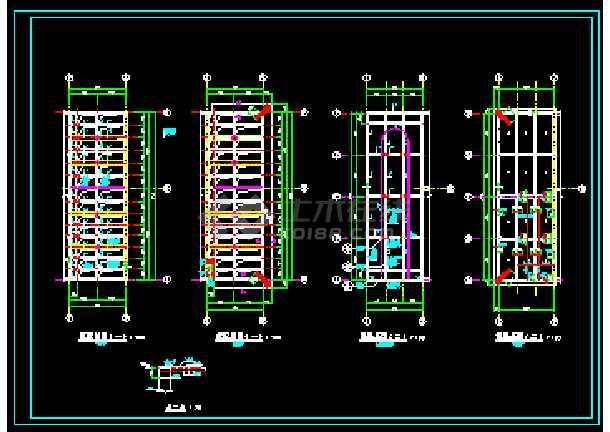 某工厂循环水池+泵房图纸(建筑+结构)-图2