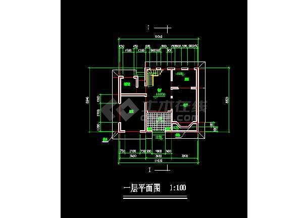某住宅区小别墅建筑CAD设计方案施工图纸-图1