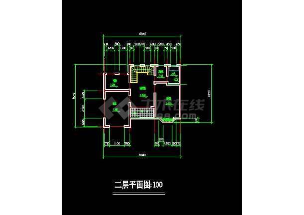 某住宅区小别墅建筑CAD设计方案施工图纸-图2