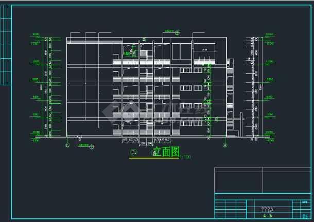 某商业综合楼建筑施工CAD图全套-图1