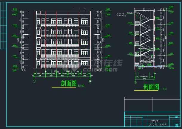 某商业综合楼建筑施工CAD图全套-图3
