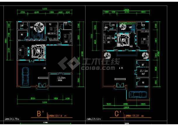 某地区某新版四合院设计cad施工方案图-图1