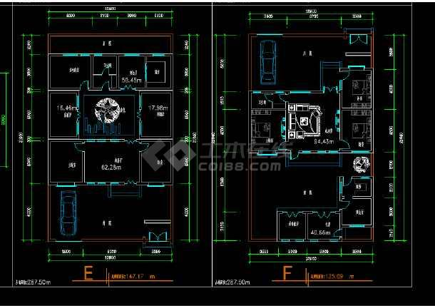 某地区某新版四合院设计cad施工方案图-图3