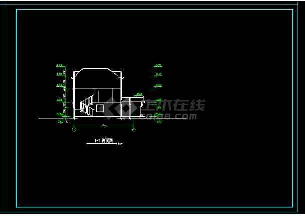 某地区某带阁楼别墅设计cad建施图带效果图-图3