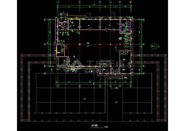 某地两层会所建筑方案设计cad施工图-图2