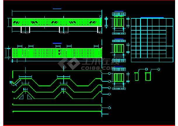 某预应力空心板桥梁结构建筑cad施工设计图纸-图3