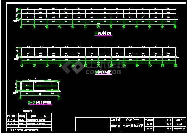 某自行车棚弧形、单跨等结构cad施工设计图纸-图2