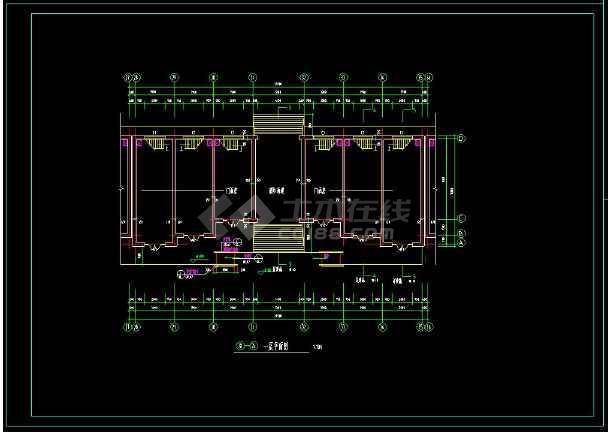 某地两层商业楼建筑方案设计cad施工图(含设计说明)-图2