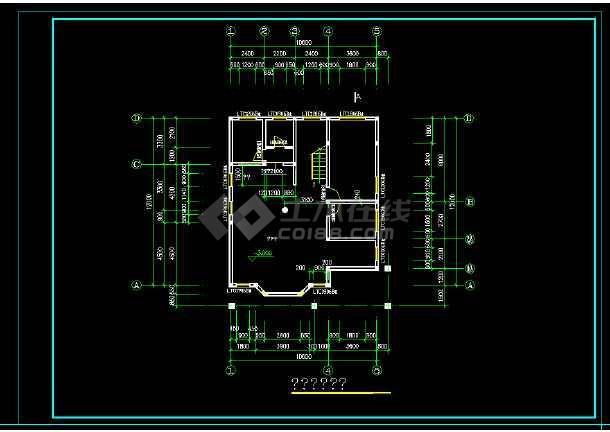 某砖混结构私人别墅建施图纸附效果图-图2