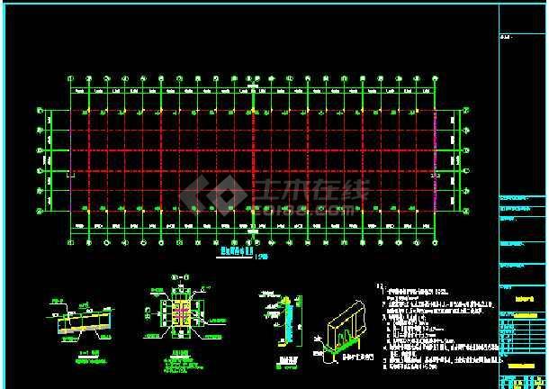 某公司108×30厂房工程CAD设计施工图-图3