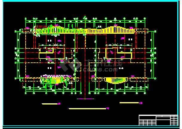 某市十层商住楼建筑全套cad施工设计图纸-图3