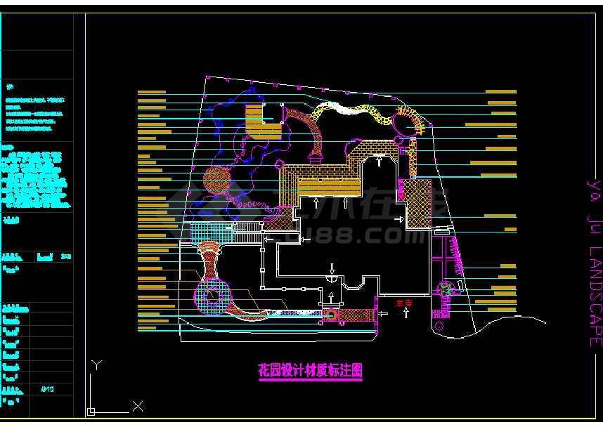 某地大型棕榈泉庭院园林景观建筑cad方案图-图1