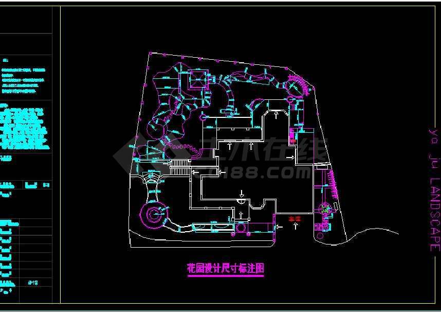 某地大型棕榈泉庭院园林景观建筑cad方案图-图2