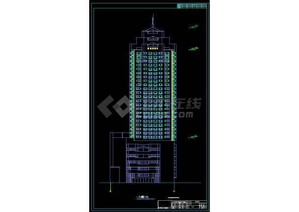 某高层住宅建筑cad详细设计方案图(含设计说明)-图1