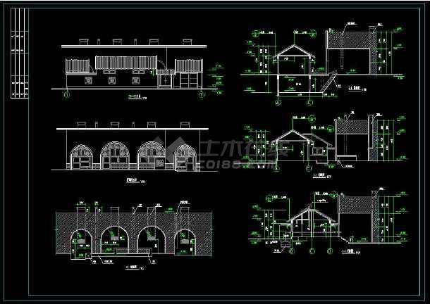 某地小康生活住宅建筑设计全套cad施工图(含设计说明)-图3