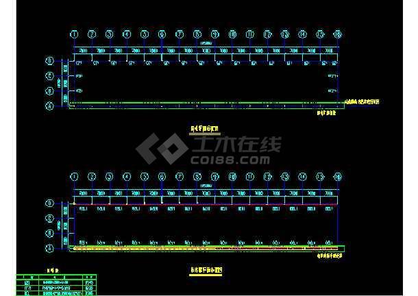 金辉B栋扩建施工设计CAD平立图-图1