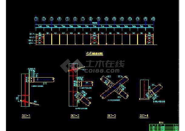 金辉B栋扩建施工设计CAD平立图-图2