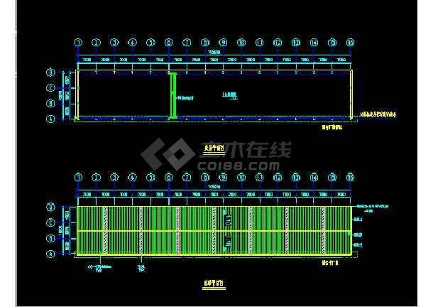 金辉B栋扩建施工设计CAD平立图-图3