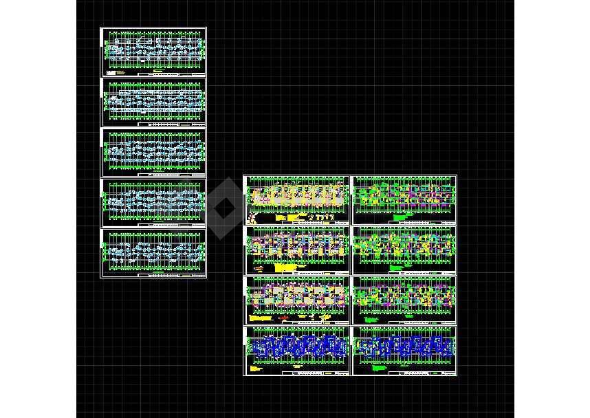 某地三层住宅楼框架结构建筑cad施工图-图2