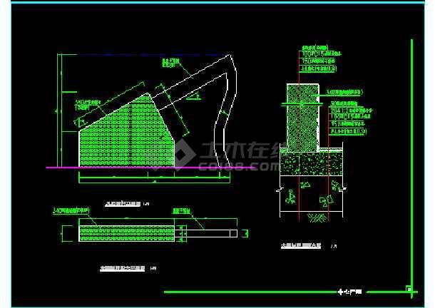 雕塑、休闲、城市广场建筑施工CAD方案设计图-图1