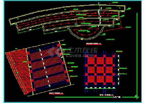 雕塑、休闲、城市广场建筑施工CAD方案设计图-图3