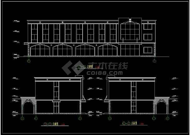 某学生宿舍楼建筑图整套cad设计图-图1