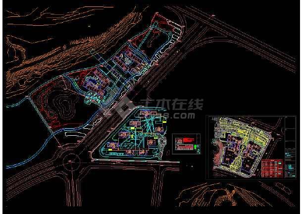 园林景观照明cad平面设计施工图-图1