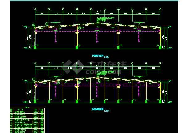 漯河工程54x102米施工结构CAD设计-图1
