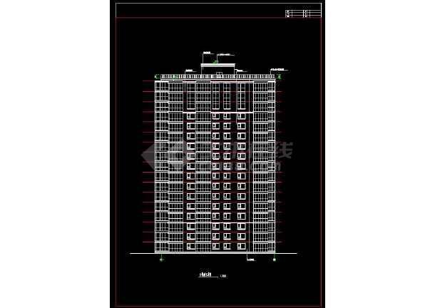 某地生活区精品高层住宅楼建筑设计cad施工图-图1
