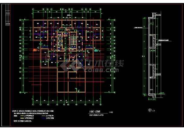 某地生活区精品高层住宅楼建筑设计cad施工图-图3