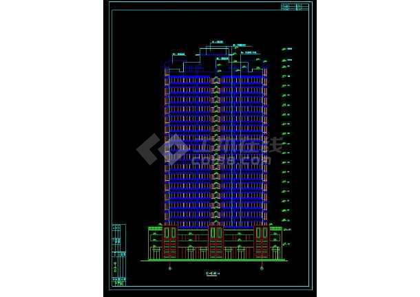 某地高层单身公寓楼建筑cad设计施工图-图1