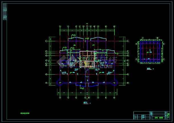 某地高层单身公寓楼建筑cad设计施工图-图3