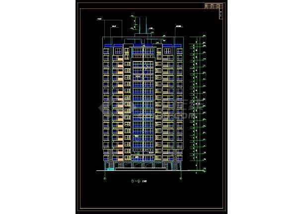 某小区高层住宅楼建筑设计cad全套施工图-图1