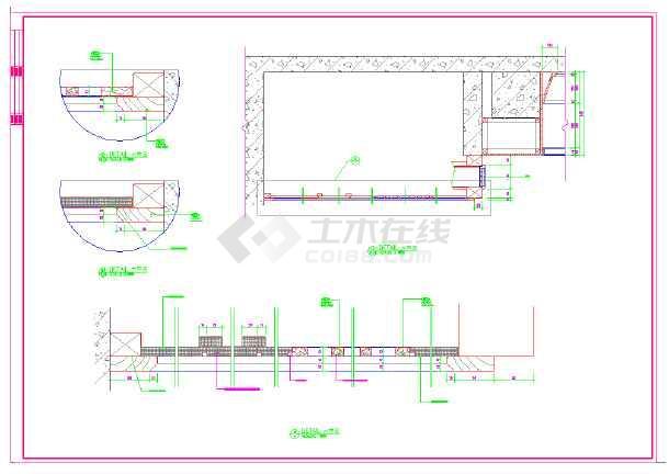 某高档五星级标准客房设计施工CAD图-图2